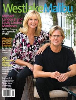 WESTLAKE MALIBU LIFESTYLE JAN-FEB 2010.MICHAEL LANDON JR AND LESLIE LANDON COVER STORY