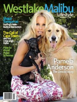 WESTLAKE MALIBU LIFESTYLE JULY-AUG 2010. PAMELA ANDERSON COVER STORY