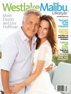 WESTLAKE MALIBU LIFESTYLE SEPT-OCT 2010. DUSTIN AND LISA HOFFMAN COVER STORY