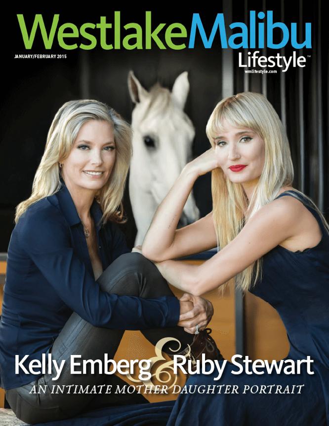 WESTLAKE MALIBU LIFESTYLE JANUARY FEBRUARY 2015. KELLY EMBERG AND RUBY STEWART