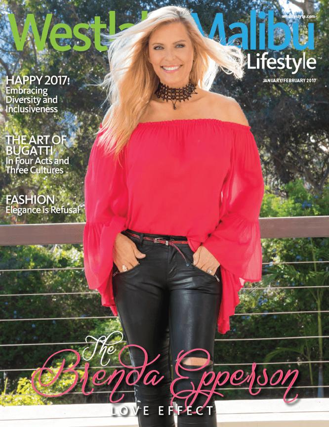 WESTLAKE MALIBU LIFESTYLE JANUARY FEBRUARY 2017. BRENDA EPPERSON COVER STORY