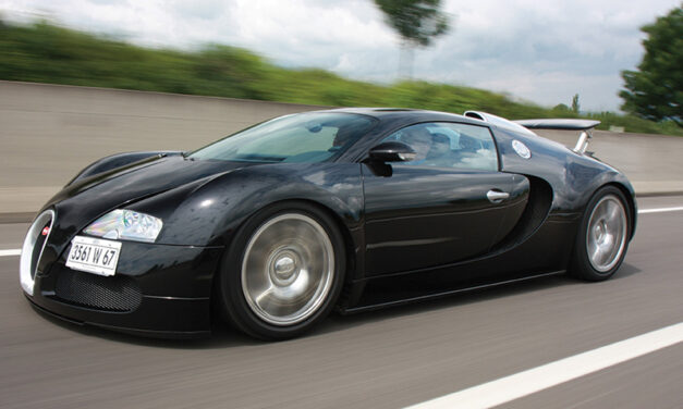 AUTOMOTIVE: Chasing History: Bugatti's Veyron 16.4 and its place in the Roman village of Molsheim.